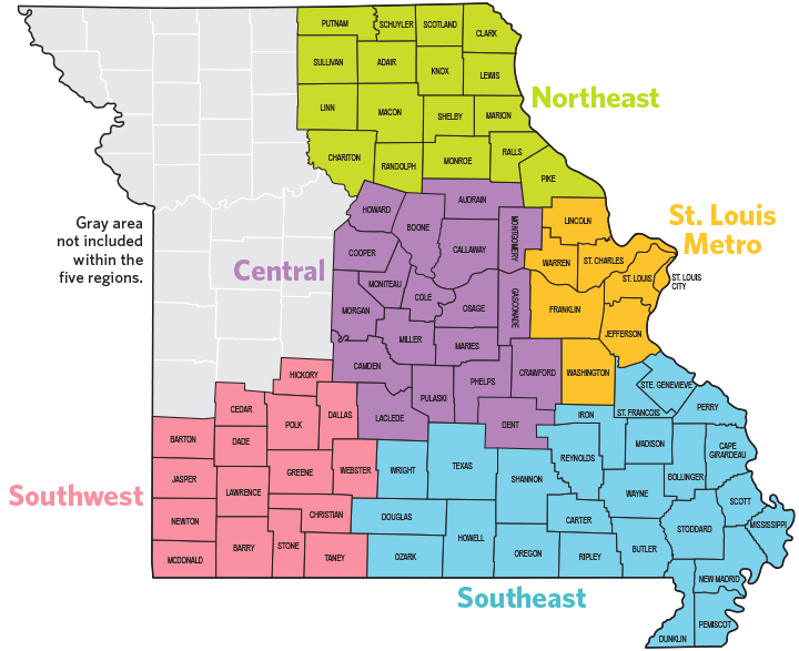 Missouri Foundation for Health (MFH) Service Areas